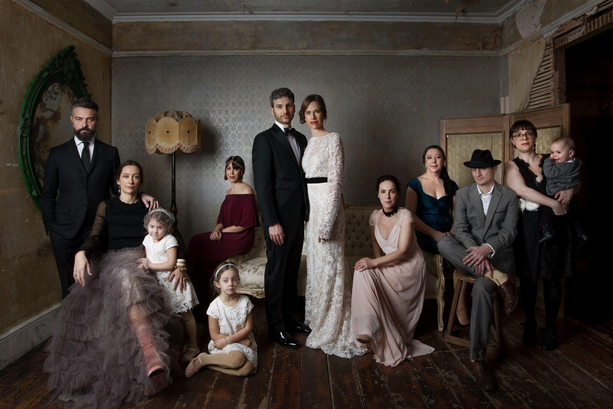 Фотосессия в старинном стиле семья